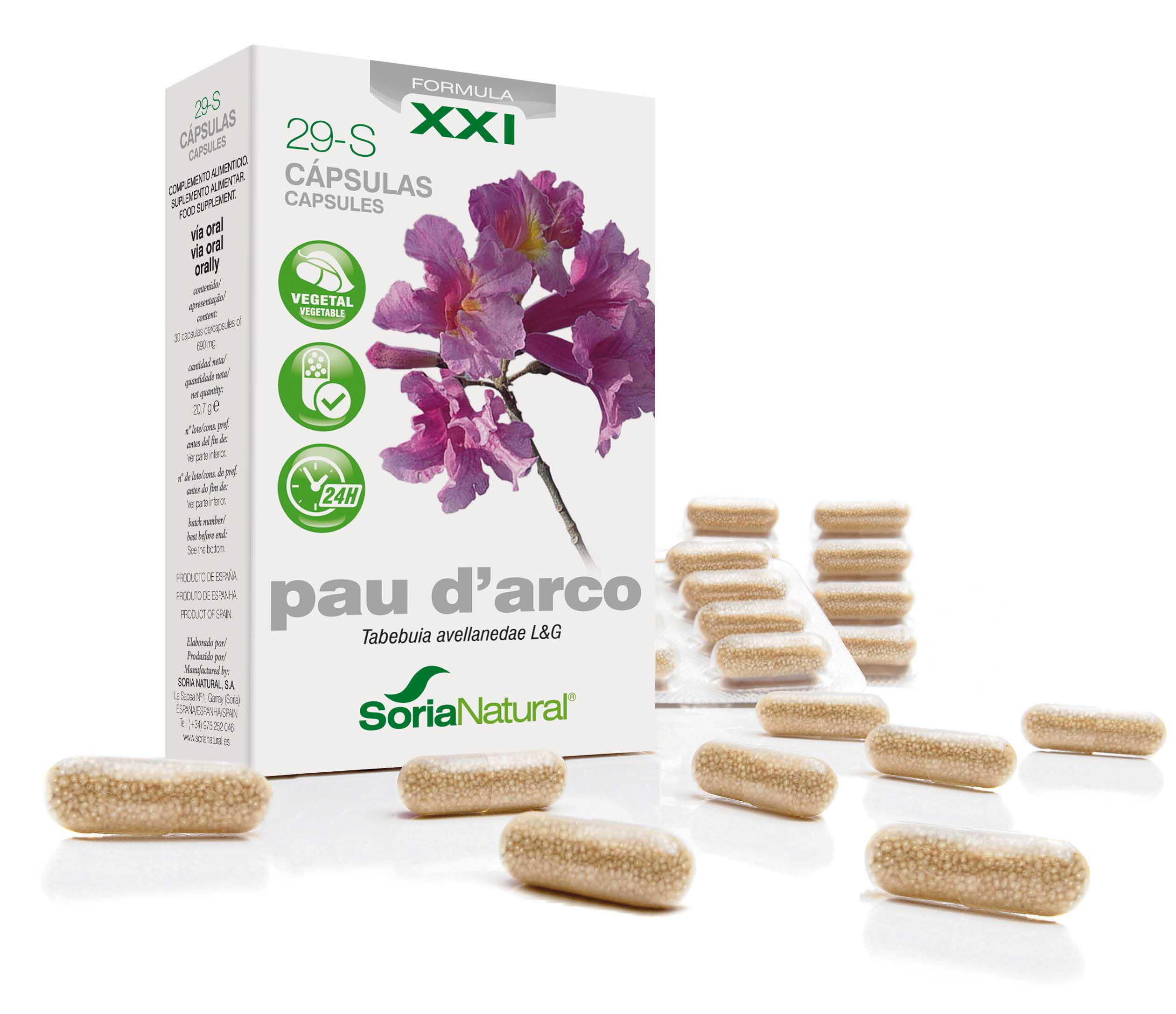 29-S Pau d'arco XXI: pau d'arco 300 mg